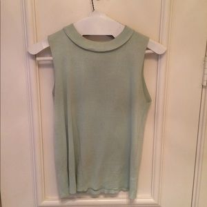 Joseph A.  Green Silk Tank Top.  Size M.